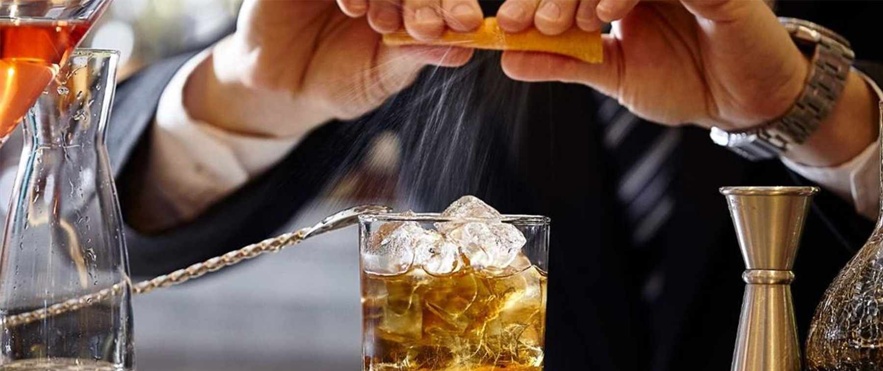 Bartender Making A Drink